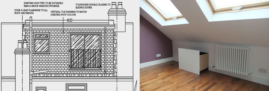 Loft conversion from concept to completion